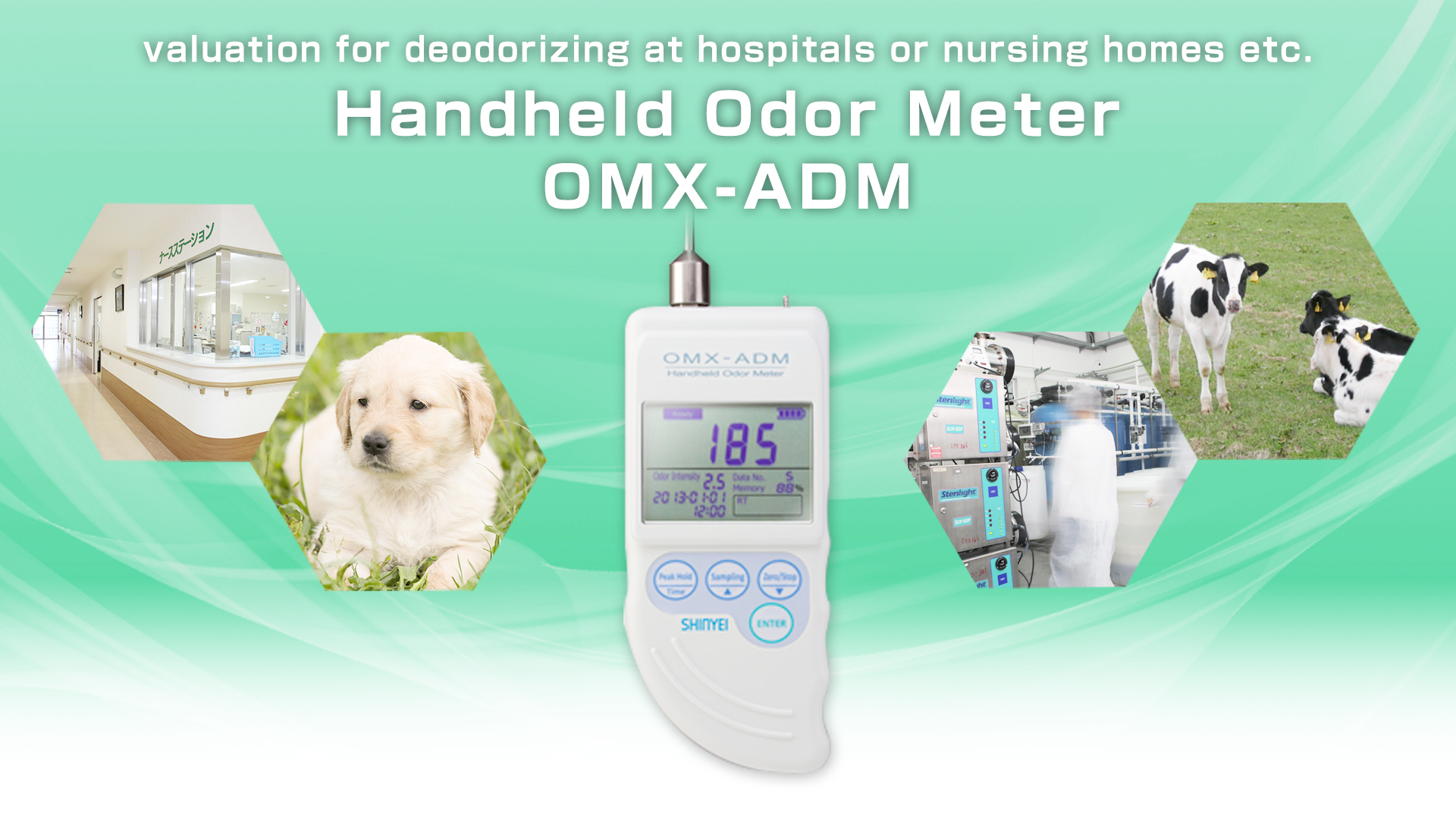 Measuring Putrid Smell And Ammonia Handheld Odor Meter Omx Adm